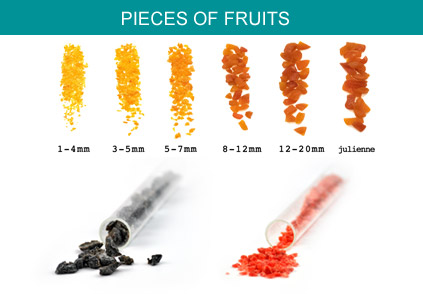 Pieces of fruits